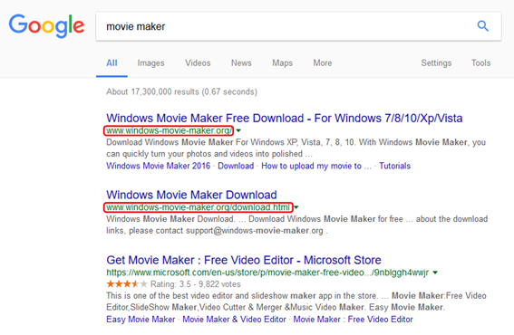 Мошенники реализуют бесплатную программу Microsoft Windows Movie Maker